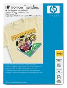 HP Iron-On T-Shirt Transfers, A4, 170g, 12 ks